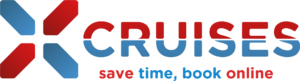 X-Cruises Logo save time, book online transparent