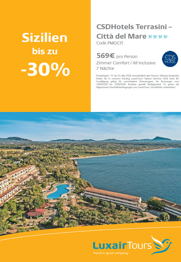 Luxair Tours Specials